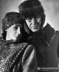 Sergei Prokofiev con su segunda mujer, Mira Mendelssohn