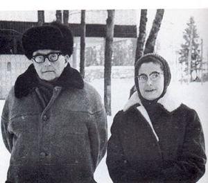 Dmitri Shostakovich junto a su última esposa, Irina Supinskaya