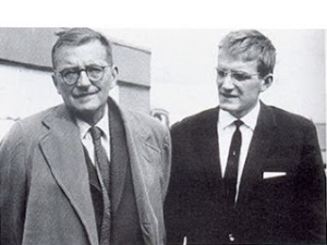 Dmitri Shostakovich acompañado de su hijo Maxim, en una instantánea de 1962