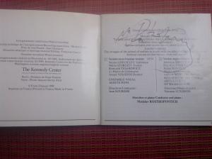Libreto del cd de la primera grabación mundial de