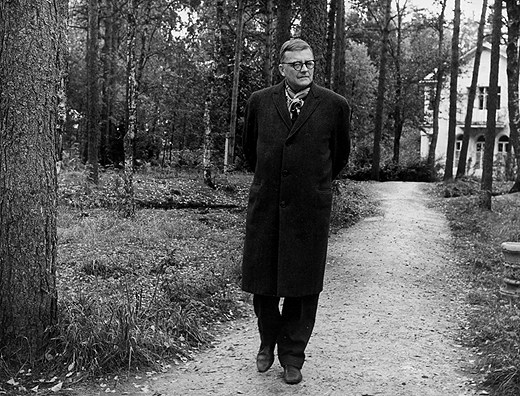 Dmitri Shostakovich Outsde His Dacha