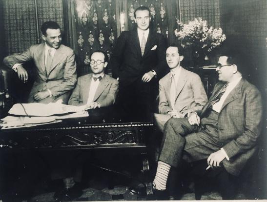 J. Bautista, R. Halffter, G. Pittaluga, F. Remacha y Salvador Bacarisse en Unión Radio. Años 30